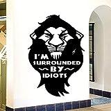 zqyjhkou Bricolage Je suis Entouré Texte Autocollant Mural Décoration de La Maison Accessoires pour Salon Vinyle Mural Chambre Mur Art Stickers XL 57 cm X 81 cm