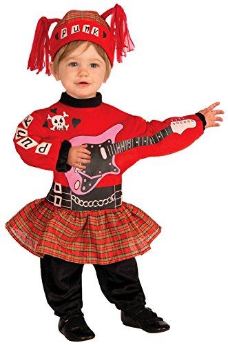 Infant Costume One Size (Punk Rock Girl Kostüme)