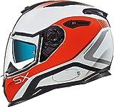 Nexx SX.100 Popup Helm Weiß/Orange M