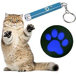 Juguete Interactivo,niceEshop(TM) Juguete de LED Proyector Persiguiendo Juguete para Gatos(Azul)