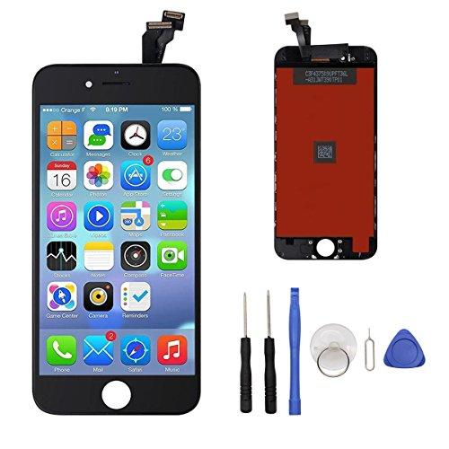 Iphone6-screen-ersatz (LCD Touchscreen Ersatz Bildschirm Front Komplettes Glas für iPhone 6 4.7