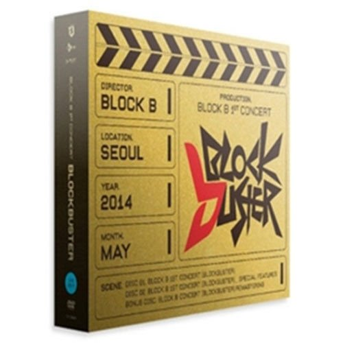 BLOCK B - 1ST CONCERT [ BLOCKBUSTER ] DVD + Photobook + Photocard + Unfolded Poster + Coupon Sealed (Blockbuster Block B)