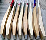 #5: WC Plain Hard Hitter English Willow Cricket Bat Full Size with Cover and Toe Guard