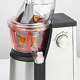 H.Koenig GSX18 - Licuadora para fruta y verdura de prensado en frio, extractor de jugos vertical, 400 W, 1 l .