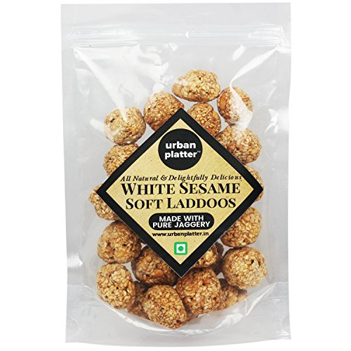 Urban Platter White Sesame Soft Laddoos, 400G [Til-Gul Laddoos, All Natural & Delightfully Delicious, Made With Pure Jaggery]