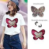 Schmetterling Wende Farbe ändern Schmetterling Pailletten Sew On Patches für Kleidung DIY Patch Aufnäher Tasche Kleidung Coat Crafts