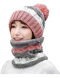 beautyjourney Cappello Donna Invernali + sciarpa donna invernale -  Coordinato Invernale - Berretto donna Invernale Tumblr e4fa0b0319de