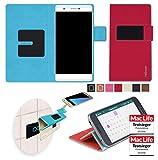 reboon Hülle für Phicomm Passion 2S Tasche Cover Case Bumper | Rot | Testsieger