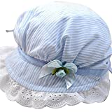 bismarckbeer Newborn Baby Girls Summer Cap Sun Hat Striped Bucket Hat Cap Sun Protection