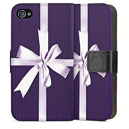 Apple iPhone 4 Housse Étui Silicone Coque Protection Cadeau Poison Boucle Sideflip Sac