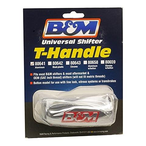 B&M 80641 Brushed Aluminum T-Handle Shifter Knob by B&M