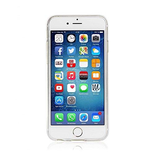 Daorier Etui Souple Soft TPU Étui pour iPhone 6 6S 4,7 TPU Case Cover Bac à Fleurs Ultra Fine Anti-rayures Téléphone Coque Arrière,1 Pcs TPU E