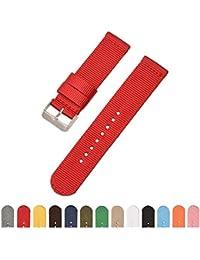 simple correa correa de la OTAN 16mm rojo 18mm 20mm 22mm 24mm banda de reloj  de 166699a96d57