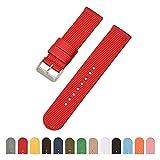 Cinturino di vigilanza di nylon NATO orologio di nylon sostituzione cinturino cinturino 18 millimetri orologio rosso watchand Black Watch cinturino in canvas orologio della cinghia vigilanza del