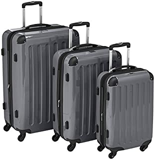 HAUPTSTADTKOFFER - Alex - Set of 3 Hard-side Luggages Trolley Suitces Expandable, (S, M & L), titan (B0050IC0CI) | Amazon price tracker / tracking, Amazon price history charts, Amazon price watches, Amazon price drop alerts