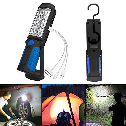 SunTop Lampada da lavoro Ricaricabile Lampade di ispezione Torcia LED Luce di Lavoro con Magnetica Clip per Auto/Campeggio/Home/Escursioni a P