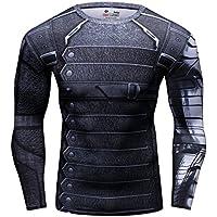 Cody Lundin® de los hombres Compresión Deporte Apretado Camisa Winter Warrior cosplay Manga larga Rutina ejercicio camiseta