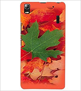 PrintDhaba Mapple Leaf D-4784 Back Case Cover for LENOVO A7000 (Multi-Coloured)