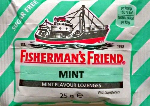 Fishermans Friend Mint Flavour Lozenges Sugar Free - 12 x 25gm
