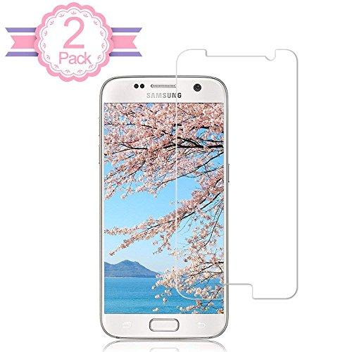 iTURBOS 2 Pièce Samsung Galaxy S7 Verre Trempé Film Protection en Verre trempé Écran Protecteur Vitre- Anti Rayures - sans Bulles d'air -Ultra Résistant Dureté 9H Glass Screen Protector pour