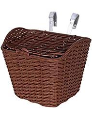 Portátil hermosa cesta frontal de bicicletas para las damas