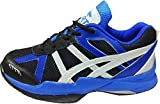 Port Women's Blue Jollie Pu Badminton Shoes