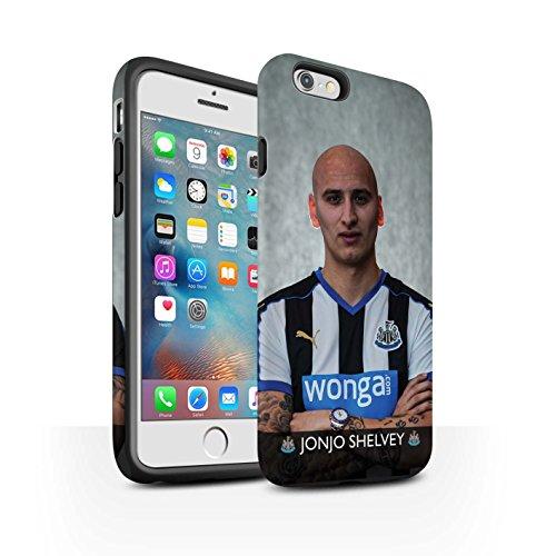 Officiel Newcastle United FC Coque / Matte Robuste Antichoc Etui pour Apple iPhone 6+/Plus 5.5 / Pack 25pcs Design / NUFC Joueur Football 15/16 Collection Shelvey