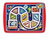 Fred & Friends Kinder-Tablett fürs Abendessen Supper Hero 30 x 21.2 x 2 cm Mehrfarbig