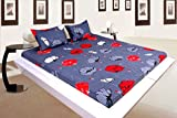 Elastic Fitted Bedsheets (Grey Floral)