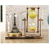 Homeofying 2 Stück Vintage Sanduhr-LED-Lichterturm Tischlampe Home Holiday Decor Geschenke goldfarben