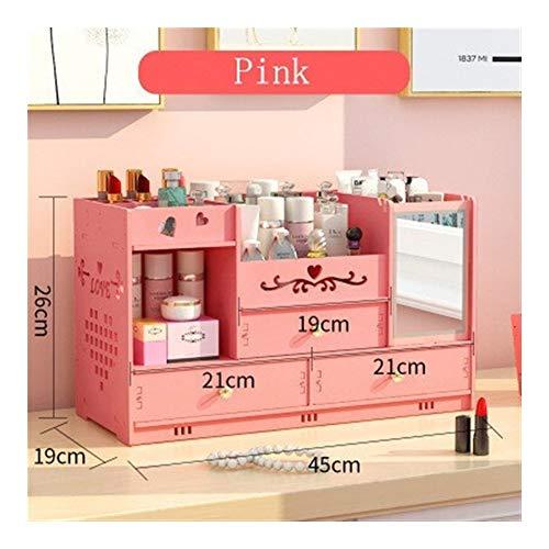Desktop Kosmetische Aufbewahrungsbox Home Schublade Spiegel Kommode Container Boxen Make-Up Hautpflege Schmuck Lippenstift Regal Veranstalter Fall (Color : Style 6) -