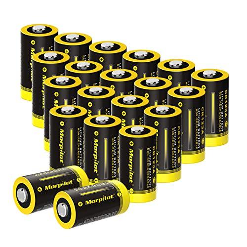 20-Pack CR123A Batterien, CR17345 1500mAh 3V Lithium Batterie für Digitalkameras, Alarmanlagen, Sicherheitstechnik, Rauchmelder, Taschenlampen usw. - [Nicht wiederaufladbar] 12 Cr123a Lithium Batterien