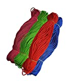 #5: Happycraft Set of 4 Nylon 2mm Macrame Cord (60 Meters Each Cord) 6 ply Nylon Knotting Poly Propylene Cord for Macrame.Ideally Used for Jewelry Making, Bags and Various Other Craft Projects.