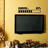 Funny LOADING Wall Stickers, friendGG Removable Art Vinyl Mural Home Room Loading Bar Gamer Gaming Video Game Kids Children Nursery Boys Room Bathroom Vinyl Sticker Wall Decor Murals Wall Decal Wallpaper Home Decor (60cm x 15cm, Black)