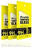 [3 Stück] ProSO Panzerglas Schutzfolie für Sony Xperia XZ Premium Display Folie aus gehärtetem Glas • 9h Härte • Anti Kratzer • Ultra-Dünn • Abgerundet (2.5D) • Anti-Bläschen •
