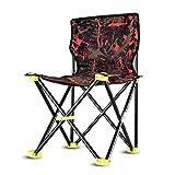 HIOD Klappstuhl Tragbarer Stuhl im Freien Fettgedruckter Rahmen Bequeme RüCkenlehne Stuhl