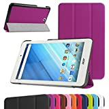 "Acer Iconia One 8 B1-850 Ultra Slim Coque,Mama Mouth Ultra Slim PU Cuir debout Fonction Housse Coque Étui Couverture pour 8"" Acer Iconia One 8 B1-850 Android Tablette,Violet"