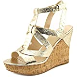 Guess Harlea Women US 8.5 Gold Wedge Heel