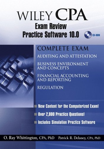 Wiley CPA Examination Review Practice Software 10.0. CD-ROM.