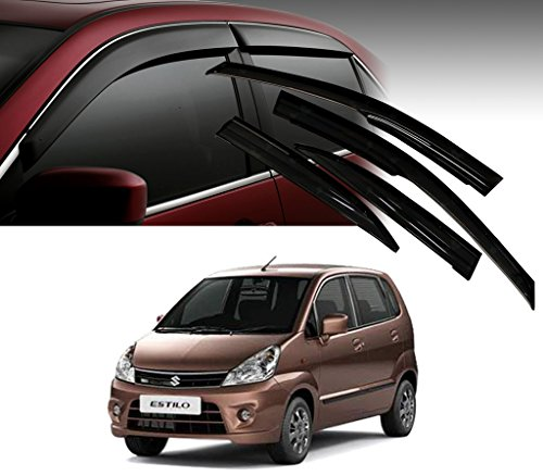 Auto Pearl - Premium Quality Car Rain Wind Door Visor Side Window Deflector For - Maruti Suzuki Estilo - Set Of 4 Pcs  available at amazon for Rs.1199