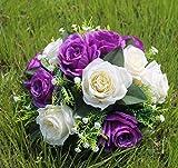 VGJJMNG Künstliche Blume 15 Blumenköpfe Künstliche Blume Für Hochzeit Partei Blume Ball Für Tisch Herzstücke Dekoration Straße Führen Haus Dekoration