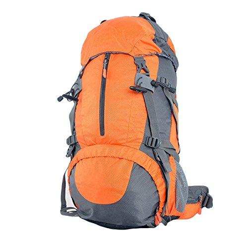 60L Im Freien Bergsteigen Taschen Reißfeste Wasserdichte Wanderrucksack Mit Großer Kapazität,Orange60L Orange60L