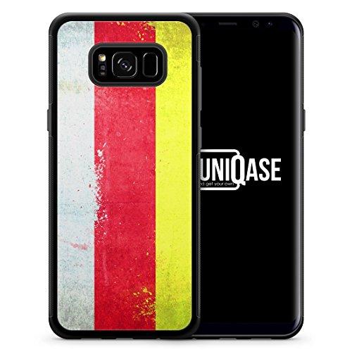 Südossetien Grunge - SILIKON Handy Hülle für Samsung Galaxy S8 - Case Cover Hard Case Schutz Schale Flagge Flag South Ossetia