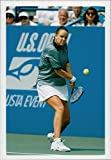 Vintage photo of Tennis player Lindsay Davenport in action.