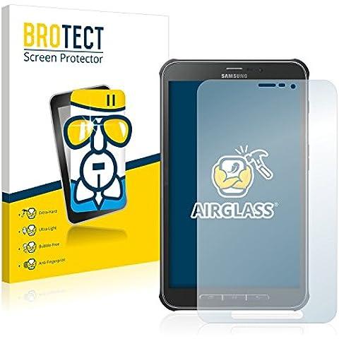 BROTECT AirGlass Protector Pantalla Cristal Flexible Transparente para Samsung Galaxy Tab Active SM-T365 Protector Cristal Vidrio - Extra-Duro, Ultra-Ligero,