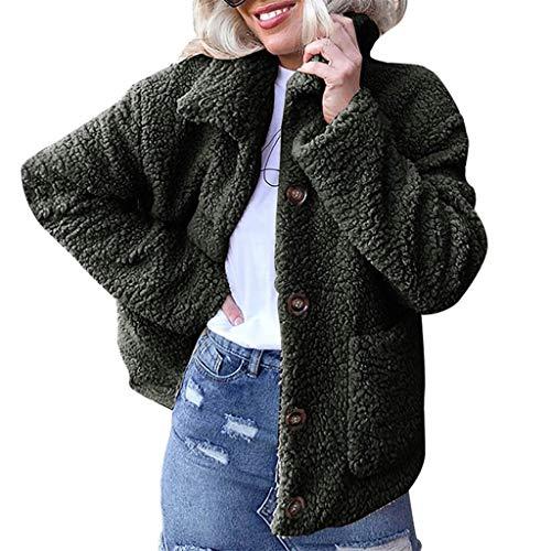 Yvelands Damen Wolle Mantel wärmen künstliche Wolle e -