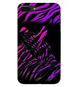 PrintVisa Animal Zebra Print & Pattern 3D Hard Polycarbonate Designer Back Case Cover for Apple iPhone 7 Plus