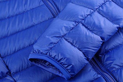 Wantdo Femmes Manteau Encapuchonné De Duvet Ultra Léger Bleu Saphir
