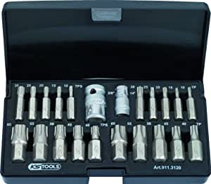 KS Tools 911.3120 Jeu de douilles torx plus 22 pcs