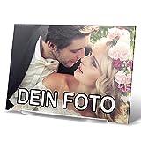 PhotoFancy® - Acryl Glas mit Foto bedrucken - Acrylglas personalisieren - Foto-Aufsteller mit eigenem Motiv selbst gestalten (29,7 x 21 cm)
